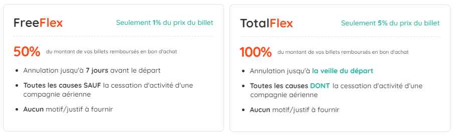 Annulation options FLEX